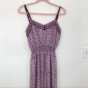 LOFT Sleeveless Purple Print Maxi Dress Sz S